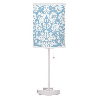 Light Blue Damask pattern Lamp