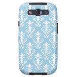 Light Blue Damask Samsung Galaxy S3 Case
