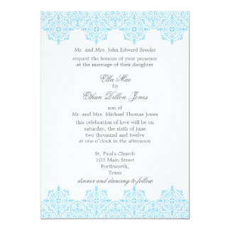 light blue damask wedding invitations - Arabic Wedding Invitations