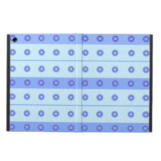 Light Blue Dark Blue Flowers Pattern iPad Air Case