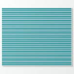 [ Thumbnail: Light Blue & Dark Cyan Colored Pattern Wrapping Paper ]