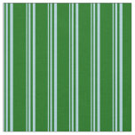 [ Thumbnail: Light Blue & Dark Green Colored Pattern Fabric ]