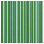 [ Thumbnail: Light Blue & Dark Green Lined/Striped Pattern Fabric ]