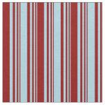 [ Thumbnail: Light Blue & Dark Red Lines Fabric ]