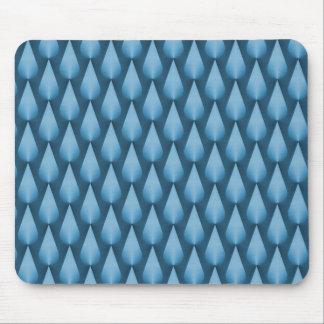 Light Blue Dazzling Raindrops Mousepad