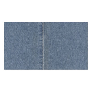 Light Blue Denim Seam Double-Sided Standard Business Cards (Pack Of 100)