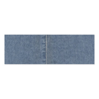 Light Blue Denim Seam Double-Sided Mini Business Cards (Pack Of 20)