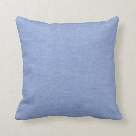 Light Blue Denim Style Throw Pillow Zazzle.com