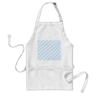 Light blue diagonal gingham pattern adult apron