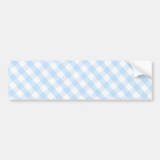 Light blue diagonal gingham pattern bumper sticker
