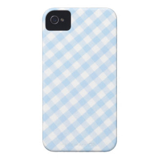 Light blue diagonal gingham pattern Case-Mate iPhone 4 cases