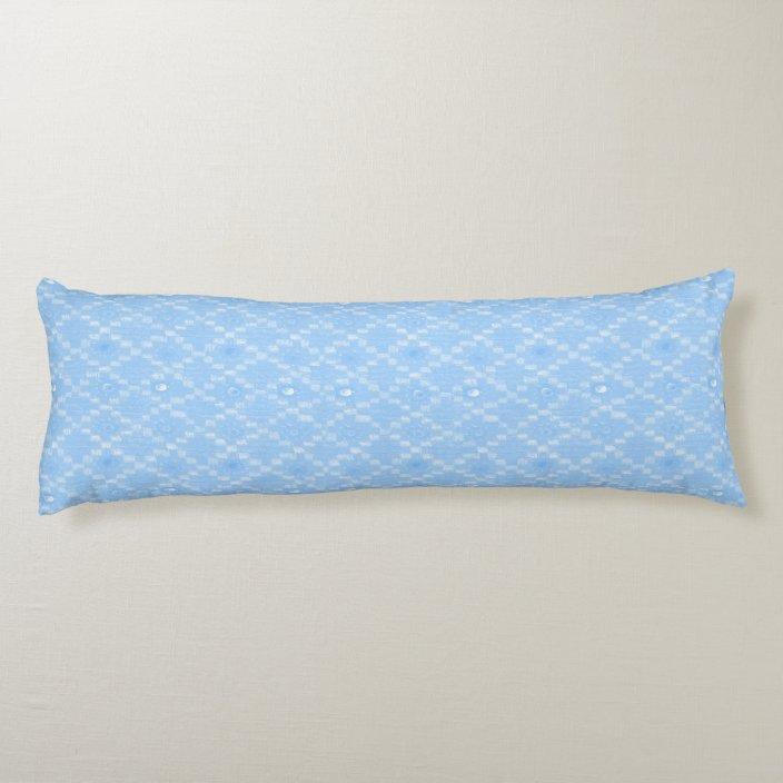 Light Blue Diamond Pattern Print Body Pillow Zazzle Com