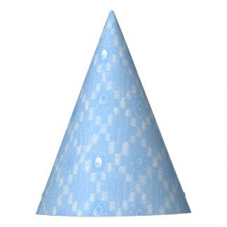Light Blue Diamond Pattern Print Party Hat