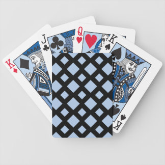 Light Blue Diamonds on Black Bicycle Playing Cards