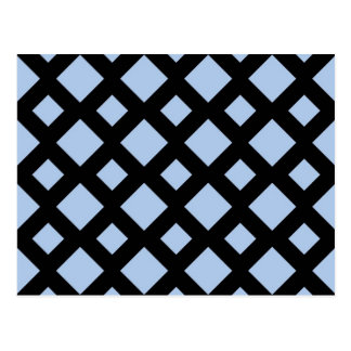 Light Blue Diamonds on Black Post Card
