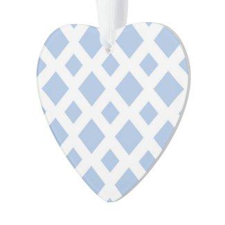 Light Blue Diamonds on White