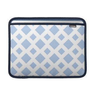 Light Blue Diamonds on White MacBook Sleeve