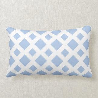 Light Blue Diamonds on White Throw Pillow