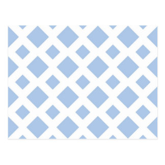 Light Blue Diamonds on White Post Cards