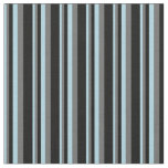 [ Thumbnail: Light Blue, Dim Grey, and Black Colored Pattern Fabric ]