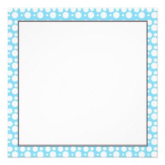light blue dots a simple pleasant decoration personalized invite