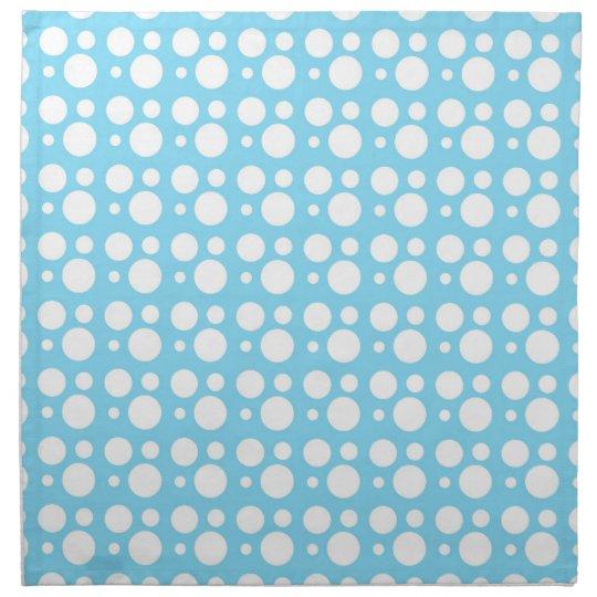 light blue dots, a simple, pleasant decoration napkin