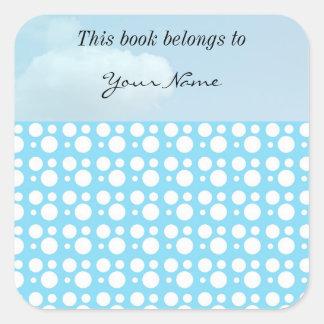 light blue dots, a simple, pleasant decoration square sticker