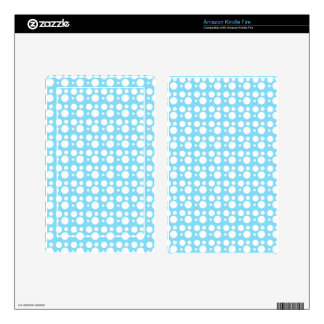 light blue dots decal for kindle fire