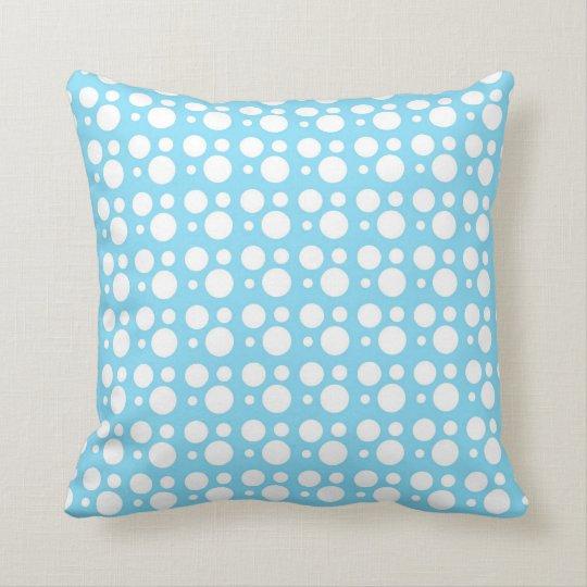 light blue dots throw pillow