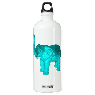 Light Blue Elephant Aluminum Water Bottle