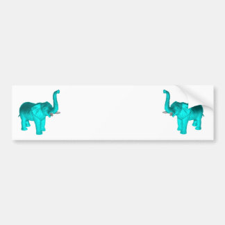 Light Blue Elephant Bumper Sticker