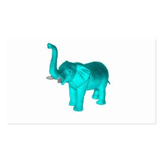 Light Blue Elephant Business Card Templates