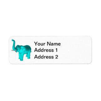 Light Blue Elephant Label