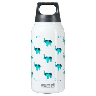 Light Blue Elephant Pattern Thermos Water Bottle