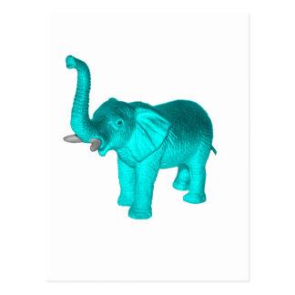 Light Blue Elephant Postcard