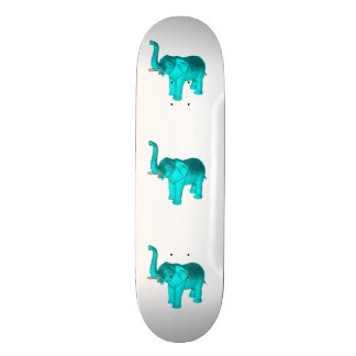 Light Blue Elephant Skateboard Deck