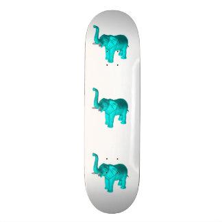 Light Blue Elephant Skateboard Deck