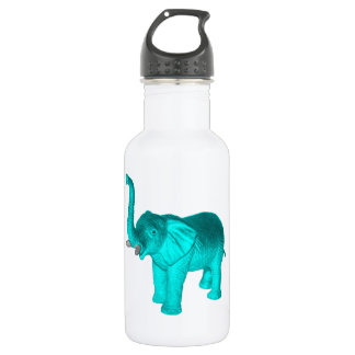 Light Blue Elephant Stainless Steel Water Bottle