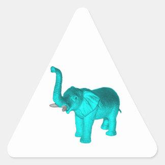 Light Blue Elephant Triangle Sticker