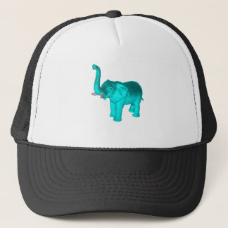 Light Blue Elephant Trucker Hat