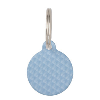 Light Blue Fabric Effect Pet Tag