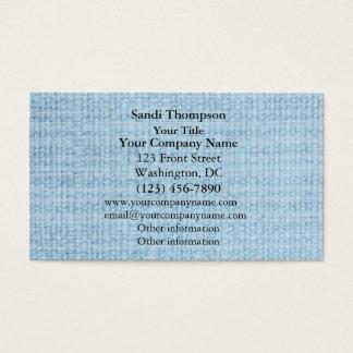Light Blue Fabric Weave Photo Business Card