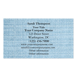 Light Blue Fabric Weave Photo Business Cards