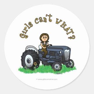Light Blue Farmer Girl Stickers