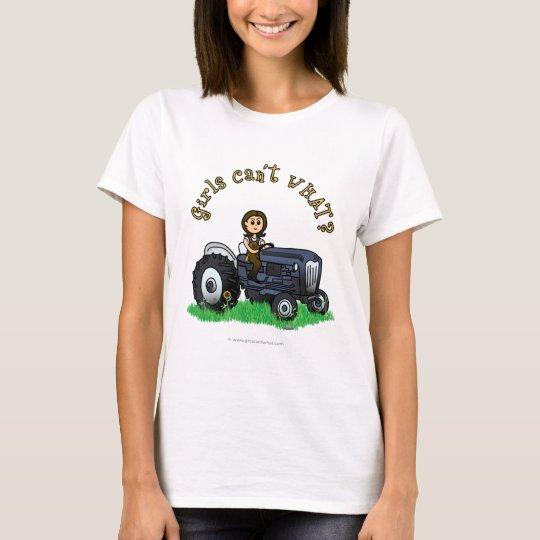 Light Blue Farmer Girl T-Shirt