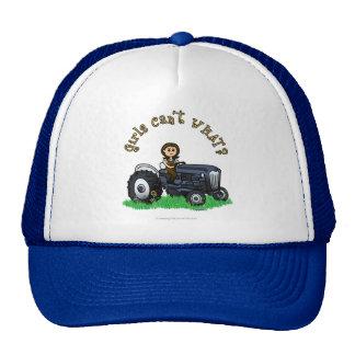 Light Blue Farmer Girl Trucker Hat