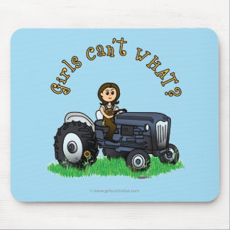 Light Blue Farmer Mouse Pad