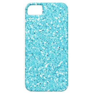 Light Blue Faux Glitter Case-Mate iPhone 5 Case
