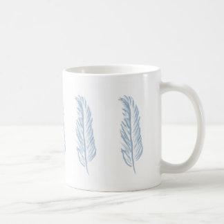 Light Blue Feather design Coffee Mug