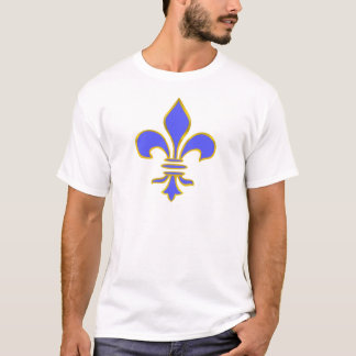 light blue fleur de lis T-Shirt